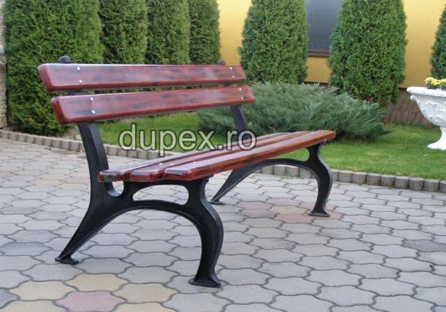Banca parc (picioare fonta) rigle din PAFS BF.03 Dupex Sebes