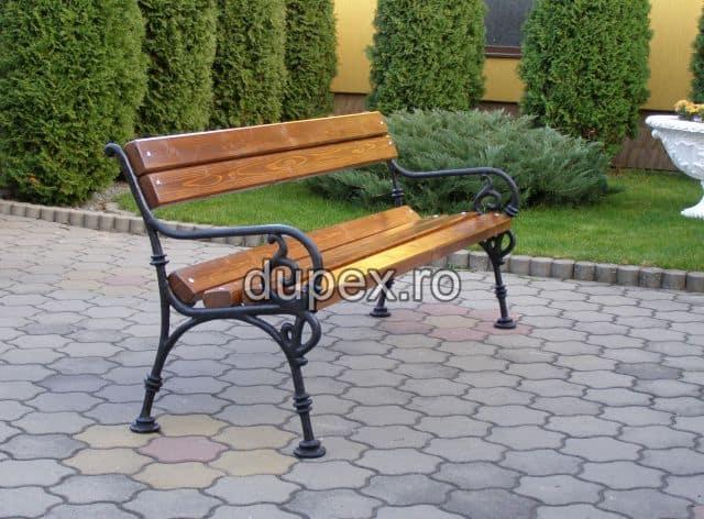 Banca parc (picioare fonta) rigle pin sau stejar BF.01 Dupex Sebes