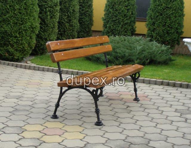 Banca parc (picioare fonta) rigle pin sau stejar BF.02 Dupex Sebes