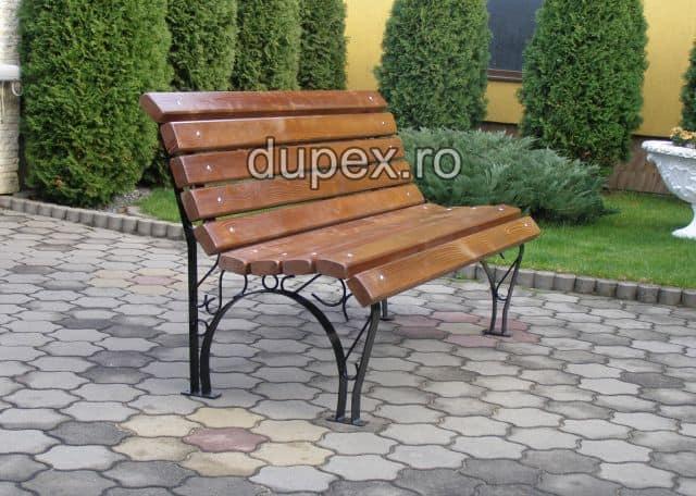 Banca parc (picioare profile) rigle pin BT.03 Dupex Sebes