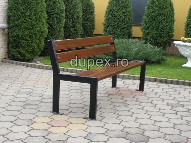 Banca parc (picioare teava) rigle pin sau stejar BT.04 Dupex Sebes