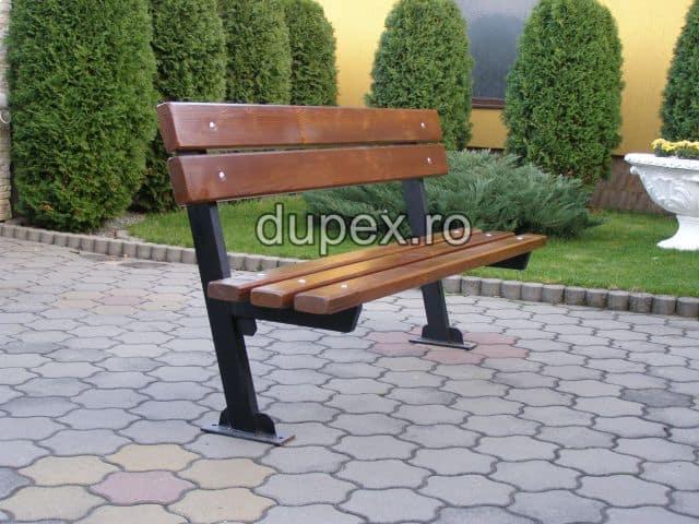Banca parc (picioare teava) rigle pin sau stejar BT.06 Dupex