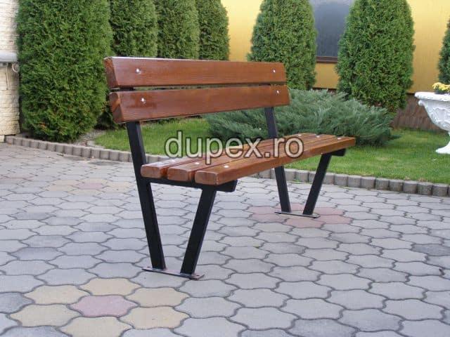 Banca parc (picioare teava) rigle pin sau stejar BT.08