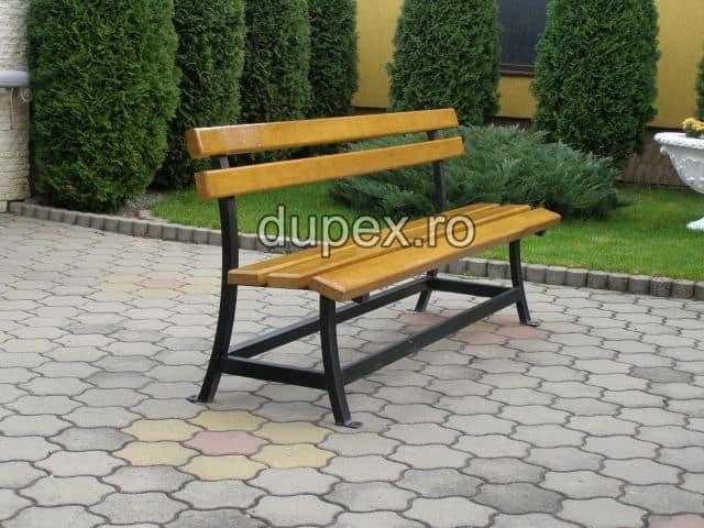 Banca parc (picioare teava) rigle pin sau stejar BT.10 Dupex Sebes