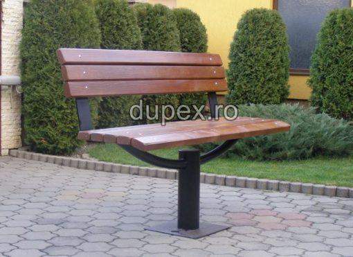 Banca parc (picioare teava) rigle pin sau stejar BT.11 Dupex Sebes