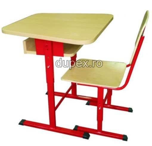 Banca scoala 1 elev (banca+1 scaun) BS.03 Dupex Sebes