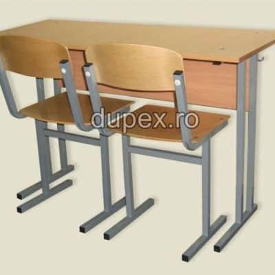 Banca scoala 2 elevi (set banca+2 scaune) BS.01 Dupex Sebes