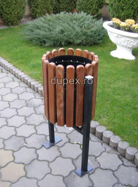 Cos gunoi lemn CGL.40 L Dupex Sebes