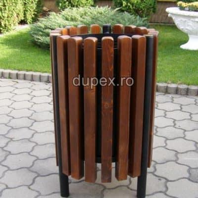 Cos gunoi lemn CGL.60 L Dupex Sebes
