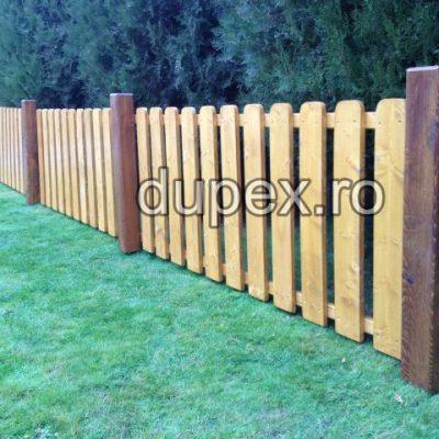 Gard din lemn cu stalpi GL.01 Dupex Sebes