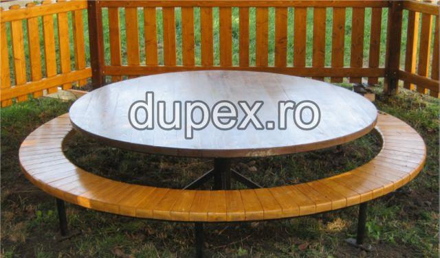 Masa cu banca rotunda MR.01 Dupex Sebes