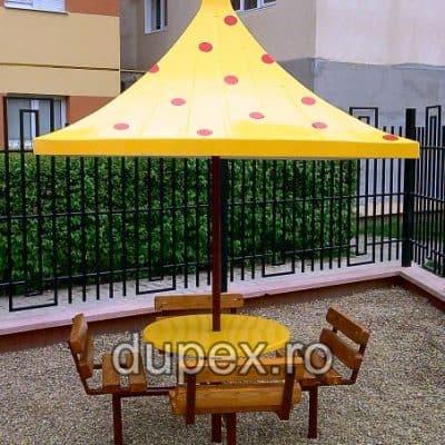 Masa joc copii cu bancute si acoperis MJCA.01 Dupex Sebes