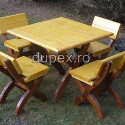 Set masa lemn 4 persoane SML.02 Dupex Sebes