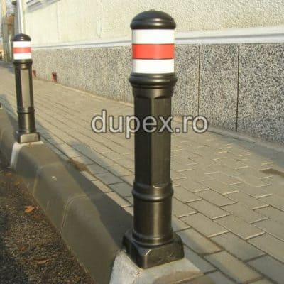 Stalp pietonal hexagonal cu prindere in beton SP.01 Dupex Sebes