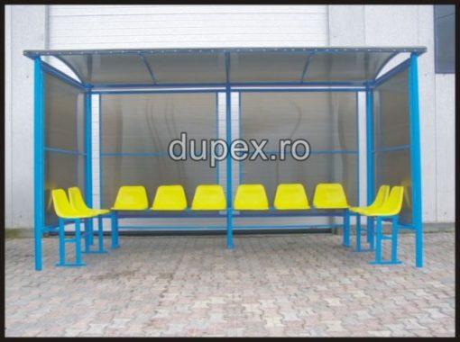 Statie buss 10 scaune - pereti policarbonat SB.10 Dupex Sebes