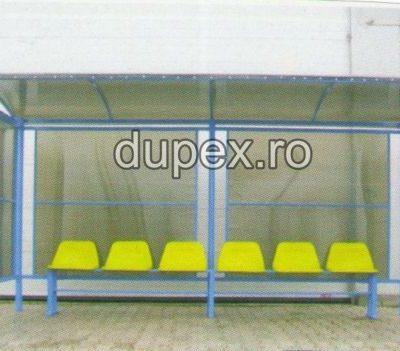 Statie bus 6 scaune - pereti policarbonat SB.06 Dupex Sebes