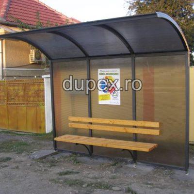 Statie bus cu banca - pereti policarbonat SB.07 Dupex Sebes