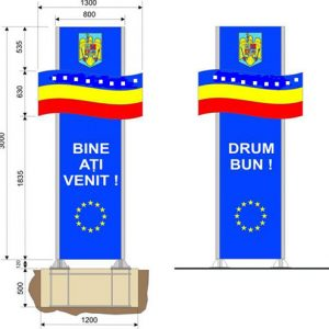 Totem intrare iesire localitate TO.02 Dupex