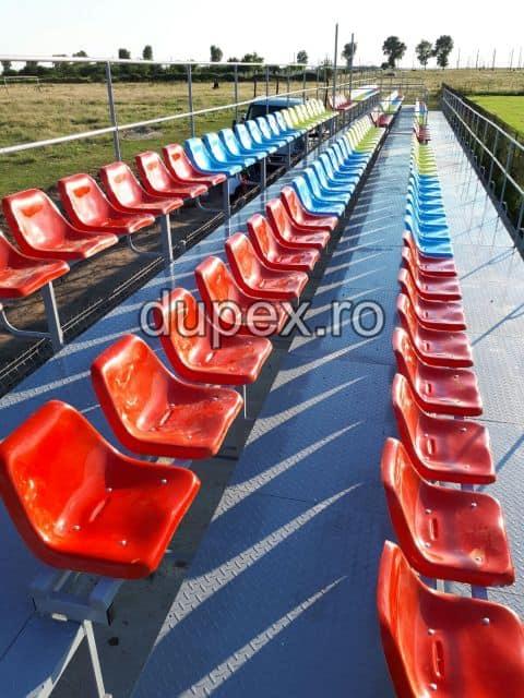 Tribuna stadion 36 locuri cu podea metal TS.36 - M Dupex Sebes