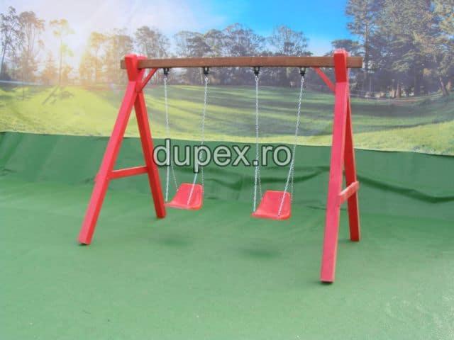 Hinta lemn 2 scaune cu spatar HL.01.02 Dupex