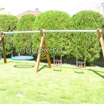 Hinta lemn bara metal 2 scaune protectie si cuib HL.01.06 Dupex