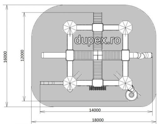 Vedere de Sus Complex de joaca Dupex CJ.48