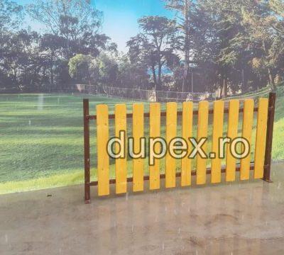 Gard din lemn cu stalp metal GL.02 Dupex Sebes