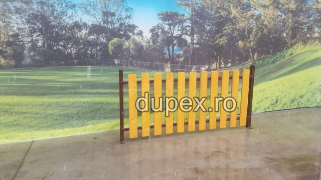 Gard din lemn cu stalpi metal GL.02 Dupex Sebes
