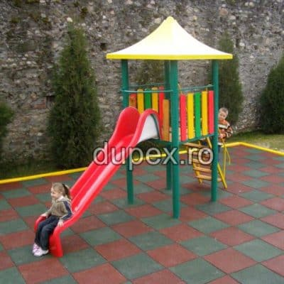 2.5m Straight slide with metallic tower TDT.01 Dupex