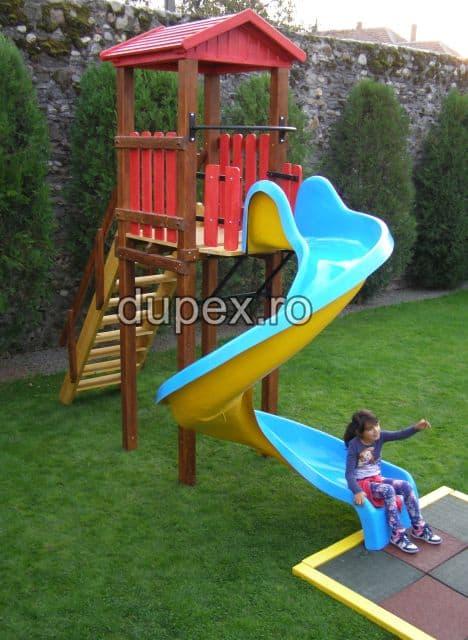 Tobogan spirala 3m cu turn lemn Dupex TSTL.01