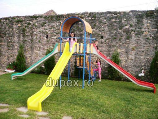 Turn cu 3 tobogane drept de 35m T3T.02 Dupex