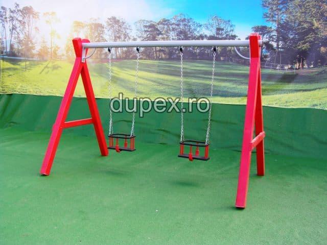 Hinta lemn bara metal doua scaune cu protectie Dupex HL.01.05