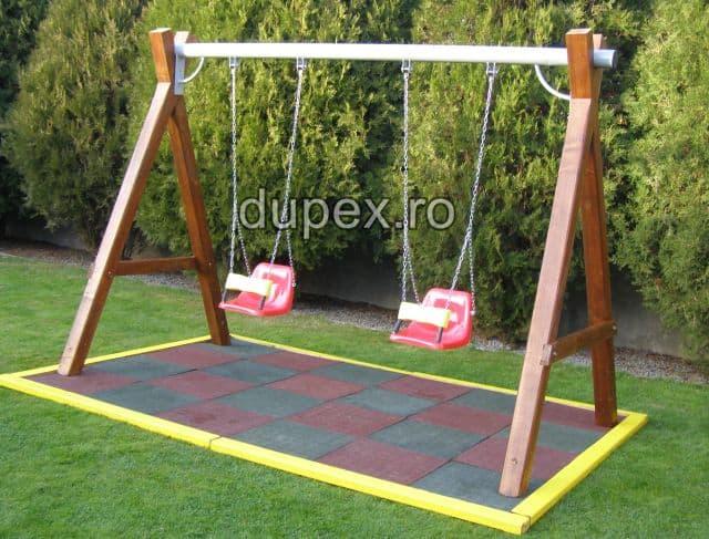 Hinta lemn bara metal doua scaune cu protectie HL.01.03