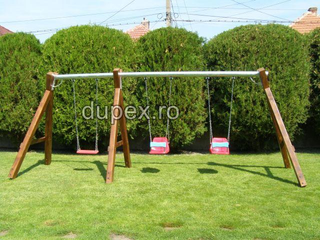 Hinta lemn bara metal 3 scaune HL.01.08 Dupex