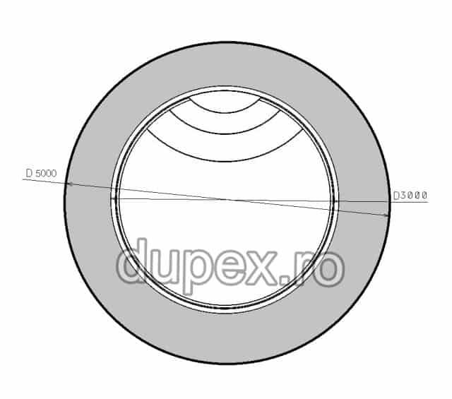 Piscina termoizolata din fibra de sticla P.03 Dupex Sebes P.03